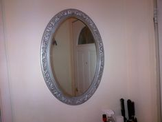 Oval mirror , Heavy glass, old siver finish $65, Item #ML-1003, in stock http://www.findandtreasure.com/catalogue.html