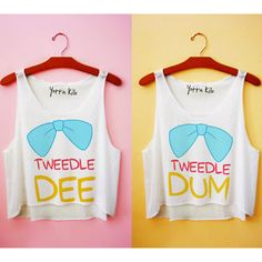 Tweedle Dee & Tweedle Dum Tank Tops ($50.00)