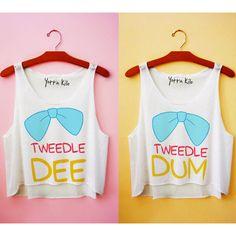 Tweedle Dee & Tweedle Dum Tank Tops ($50.00)