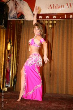 Jasmin Jahal performing in Cairo, Egypt at Ahlan we Sahlan dance convention
