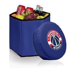 NBA Washington Wizards Bongo Insulated Collapsible Cooler, Navy by Picnic Time (Sports). NBA Washington Wizards Bongo Insulated Collapsible Cooler, Navy. One Size.