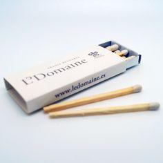 "Cajas de cerillas modelo ""Hotel"". Trabajo realizado para L'Domaine. Usb Flash Drive, Templates, Match Boxes, Advertising, Usb Drive"