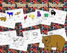 Brown Bear Emergent Reader ---- color and black and white to color; free download