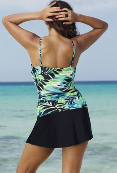 Shore Club Margarita Tie-Front Underwire Slit Skirtini