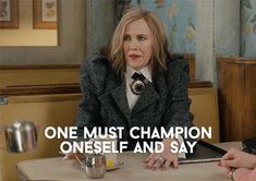 New GIF on Giphy Funny Comedy, Funny Movies, Cindy Lou Who, Catherine O'hara, Classy People, Have A Happy Day, Lights Camera Action, Schitts Creek, Little Bit