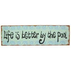 pool sign..NEED THIS!