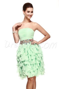 A-Line Empire Strapless Short/Mini Sandra's Cocktail Dress 9665178 - Homecoming Dresses - Dresswe.Com