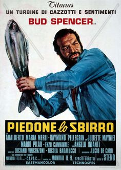 "With Bud Spencer, Adalberto Maria Merli, Raymond Pellegrin, Juliette Mayniel. Adventures of the police inspector ""Flatfoot"" Rizzo in the slums of Naples. Thriller, Bud Spencer, Terence Hill, Sergio Leone, Origin Of Halloween, Idol, Cinema Posters, Film Posters, Drama"