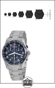 Victorinox 241120 - Reloj cronógrafo de cuarzo para hombre con correa de acero inoxidable, color plateado  ✿ Relojes para hombre - (Gama media/alta) ✿