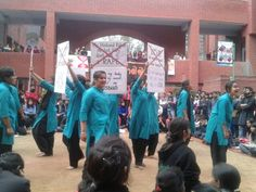 """street play by ip college in """"reverie 14"""""""
