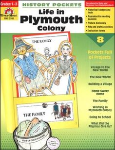 History Pockets: Life in Plymouth Colony, Grades 1-3. These are great for including little ones in your study of America's Story 1! Coloring, cutting, glueing practice.