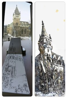 Urban sketchers show the world, one drawing at a time. Drawing Sketches, Sketching, Artist Journal, House Drawing, Urban Sketchers, Art Sketchbook, Illustrations Posters, Illustration Art, Landscape
