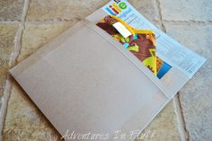 Up cycle a cereal box into a shipping envelope - Fill Envelope