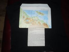 2 envelopes I made from an old map and a book page