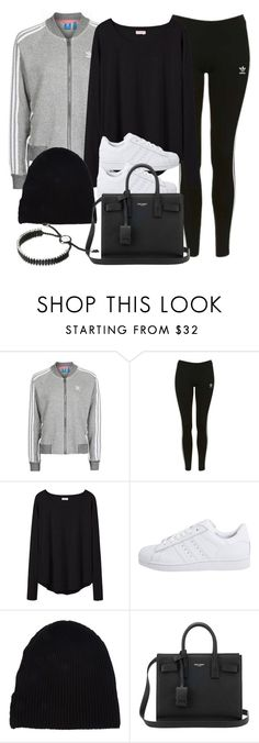 """""""Style #11618"""" by vany-alvarado ❤ liked on Polyvore featuring Topshop, Organic by John Patrick, adidas Originals, Yves Saint Laurent and Links of London"""