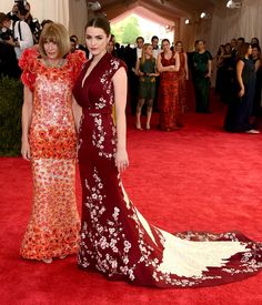 Anna Wintour in Chanel with daughter Bee Shaffer | Met Gala 2015 red carpet pictures | Met Ball fashion - Costume Institute Gala | Harper's Bazaar