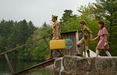 Editor Andrew Weisblum, ACE, on Moonrise Kingdom.  A June 12, 2012, article in Studio Daily by Bryant Frazer.  Shown are Cousin Ben (played by Jason Schwartzman), Sam Shakusky (Jared Gilman) and Suzy Bishop (Kara Hayward) in the sailing scene filmed at the Yawgoog Pond dam at Camp #Yawgoog, Rockville, Hopkinton, Rhode Island (RI).