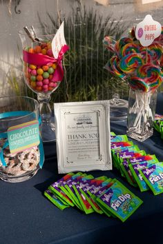 Lowndes Grove Plantation Wedding from Virgil Bunao Fine Art Weddings Candy Table, Candy Buffet, Little Pony Party, Wedding Candy, Wedding Table Centerpieces, Party Themes, Party Ideas, Wedding Coordinator, Candy Stations