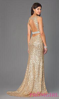 Long Keyhole Sequin Prom Dress. Shop the look: http://www.promgirl.com/shop/dresses/viewitem-PD1297024