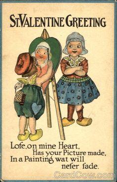 Valentine greetings valentines day dutch children dutch st valentine greeting dutch children with children m4hsunfo