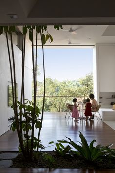 """Namly House, located in Singapore In addition, his wish list included :  """"1 house yet 2 homes  Simple yet beautiful  Front yet back  Tropical yet cool n breezy  Natural yet tasteful  Raw yet elegant  Indoor yet outdoor/in touch with nature  Small yet spacious  Minimal yet more than enough  Less yet more"""""""