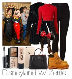 """""""Disneyland w/ Zerrie ♥"""" by ana-a-m ❤ liked on Polyvore featuring Topshop, Alice + Olivia, Timberland, NARS Cosmetics, Prada and peacehugsandhippielove"""