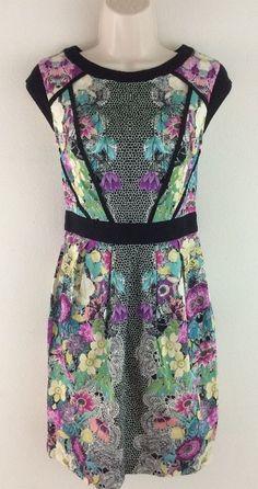 NWT DOROTHY PERKINS ASOS Multi Color Floral Sheath Cocktail Dress UK 8 US 4 #DorothyPerkins #Sheath #Cocktail