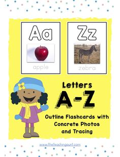 Free Alphabet Flashcards with Pictures of Concrete Objects! Concrete objects help children develop better connections with new concepts. Learning The Alphabet, Kids Learning, Letter Flashcards, Cute Alphabet, Pictures Of The Alphabet, Printable Letters, Free Preschool, Lesson Plans, Worksheets