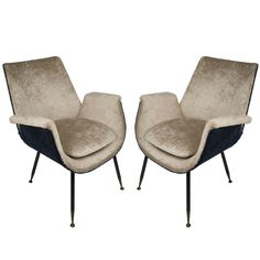Pretty Pair of Italian 1950s Little Armchairs by Gastone Rinaldi for Rima