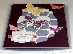 #Schmetterlinge zum #Geburtstag   http://eris-kreativwerkstatt.blogspot.de/2015/04/schmetterlinge-zum-geburtstag.html  #stampinup #teamstampingart