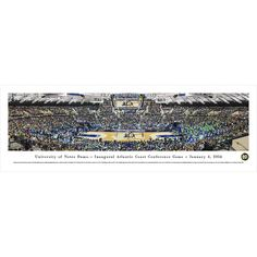 Worldwide Blakeway Panoramas Notre Dame Basketball 'Inaugural Acc' Framed Print