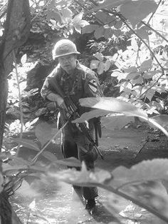 1st Cavalry Division Soldier in the jungles of Vietnam. First Team!