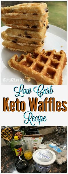 Low Carb Keto Fluffy waffles recipe - fluffy keto waffles!!!  BEST EVER!