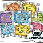 Happy Habits Award Certificates (7 Habits Inspired)