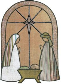 Nativity -simple..could adapt to glass!