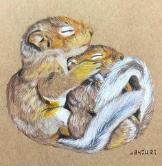 _  지인 부탁으로 그린 그림  #그림선물 은 언제나 기분이 좋다.  _  #BYJURI #동물그림 #다람쥐 #squirrel #squirreldrawing #일러스트 #illust #illustration #doodle #instaart #instadraw #프리즈마 #prismacolor #dailydrawing #그림스타그램 #취미스타그램 #pensketch #pendrawing #drawing #talentedpeopleinc #pencildrawing #손그림 #follow #F4F by byjuri_