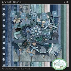 Accent Denim - Kit - Click Image to Close