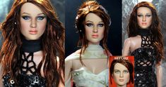 Jennifer Lawrence custom doll art repaint by noeling on deviantART