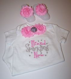 Brand Sparkling New bodysuit set YOU CHOOS COLORS newborn baby girl take home outfit flower headband barefoot sandals baby shower gift on Etsy, $26.50