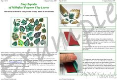 Image for Example pages from Millefiori Leaf Canes Polymer Clay Tutorial