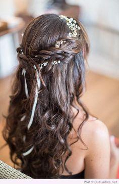 Rustic wedding hairdo