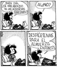 My idol Mafalda Mafalda Quotes, Humor Grafico, Love You, My Love, Funny Facts, Some Words, Comic Strips, Make Me Smile, Are You Happy