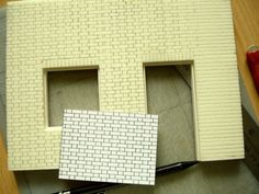 Marquant lignes de briques en mousse