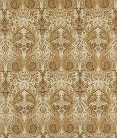 Beacon Hill Palace Paisley Aged Palm Fabric Dining Room Drapes, Robert Allen Fabric, Beacon Hill, Palace, Paisley, Prints, Decor, Decoration, Dining Room Curtains