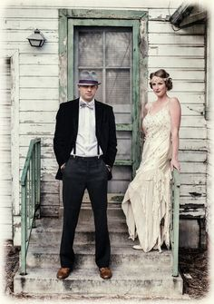 Gatsby inspired wedding couple, The Whiskey 'I Dos'  |  The Frosted Petticoat by AislingH