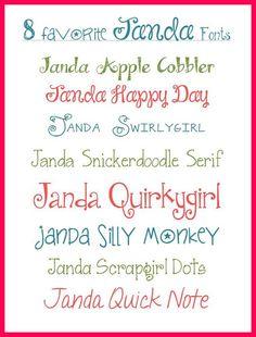My Favorite Free JANDA Fonts
