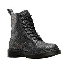 Women's Dr. Martens 1460 8-Eye Boot W ($120) ❤ liked on Polyvore featuring shoes, boots, casual, casual shoes, black lace up boots, black combat boots, combat boots, leather boots and laced boots