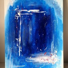 An attempt at making abstract art. I absolutely loved the blue paint and knew I had to make it the star of the whole piece. Though, this isn't quite finished! Make sure to stick around to see the final version 😉😆 Sip N Paint, Blue Painting, Blue Abstract, Amazing Art, Ocean, Star, Sea, All Star, The Ocean