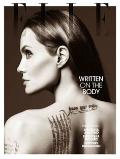 Angelina Jolie for the magazine ELLE US, June 2014