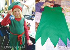 The Roots of Design: How to make an easy elf (or Peter Pan looking) costume - Buddy The Elf Diy Christmas Costumes, Diy Christmas Elves, Xmas Costumes, Diy Costumes, Kids Christmas, Halloween, Costume Ideas, Costume Lutin, Costume Homemade